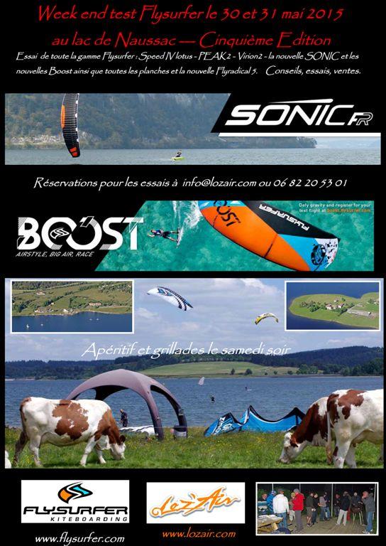 WE Test Flysurfer - Lac de Naussac - WE 30-31 mai 2015 Lozfly15