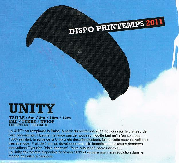 Flysurfer unity remplaçante de la pulse Unity